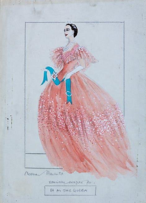 Эскиз королевского платья / hrp.org.uk