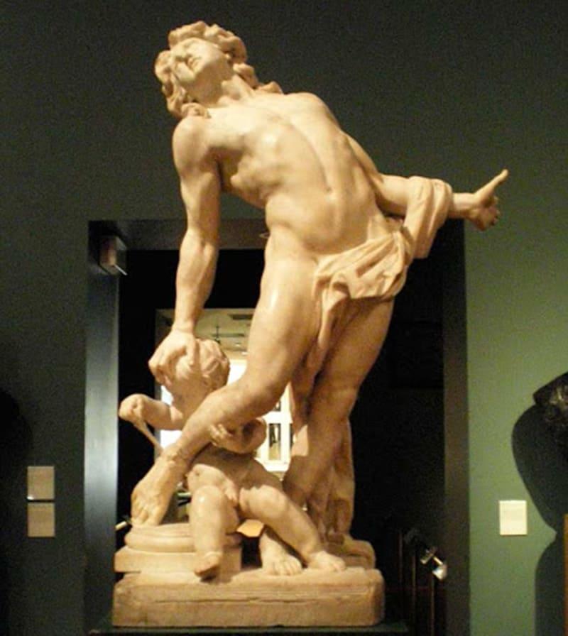 Кристоф Вейрье «Умирающий Ахилл», Местонахождение: Музей Виктории и Альберта, Лондон, Великобритания