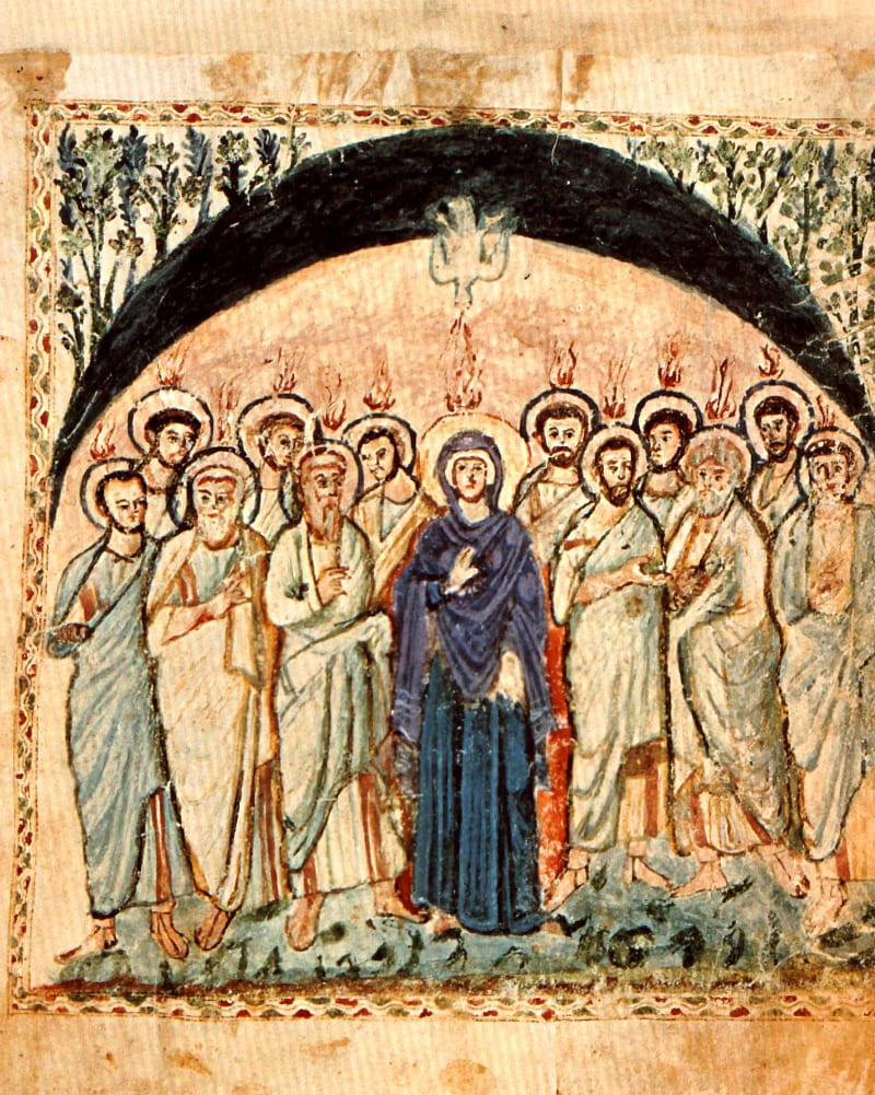 Сошествие Святого Духа (Евангелие Рабулы, VI век) Местонахождение: Флоренция, Италия