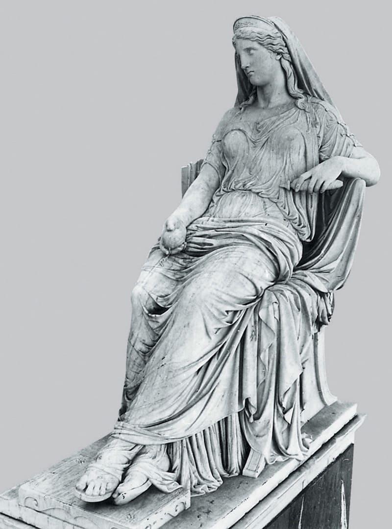 Леонидас Дросис, Статуя Пенелопы, 1873 год Местонахождение: Музей Александра Сутзоса, Афины, Греция