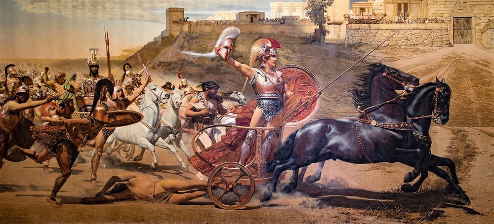 Франц фон Мач «Торжествующий Ахилл» Местонахождение: зал Ахиллиона на Корфу, Греция