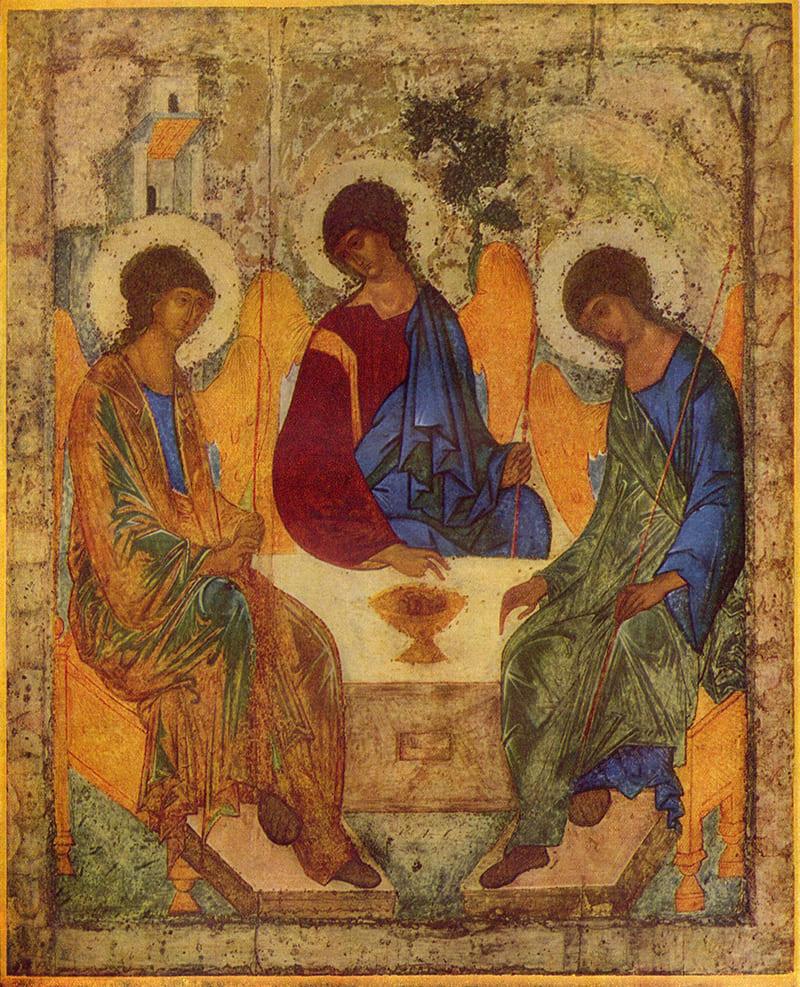 Сошествие Святого Духа (Евангелие Рабулы, VI век) <br>Местонахождение: Флоренция, Италия