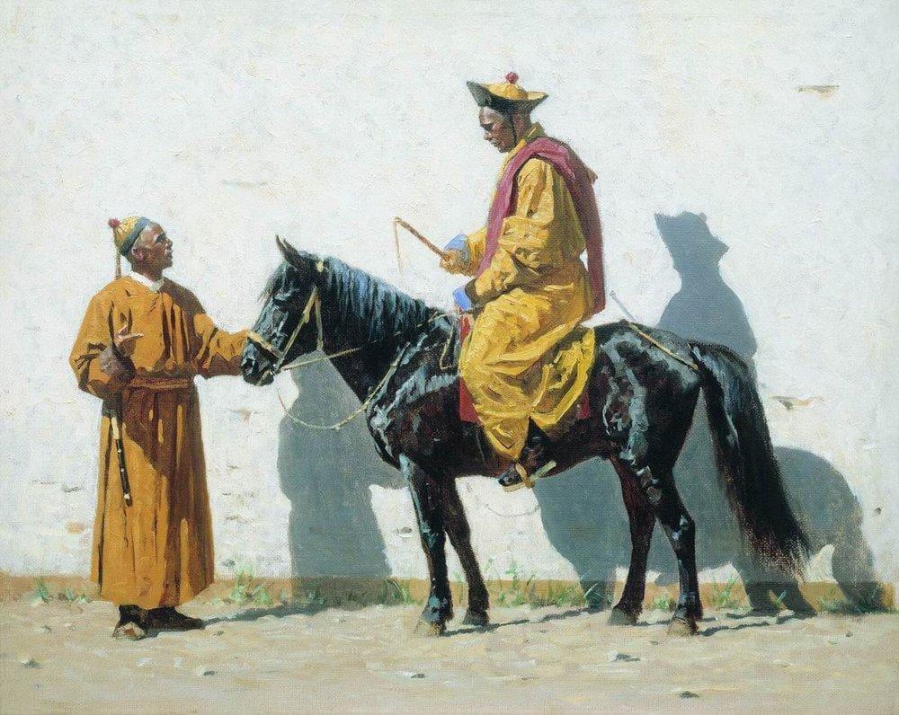 Василий Васильевич Верещагин «Калмыкский лама», 1870 год Местонахождение: Третьяковская галерея, Москва
