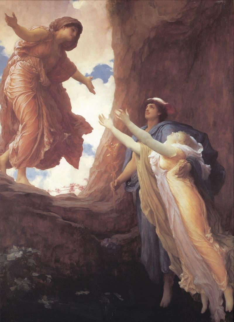 Фредерик Лейтон «Возвращение Персефоны», 1891 год Местонахождение: Музей искусств Лидс, Великобритания