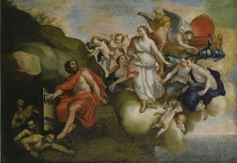 Мануэль де Саманиего «Юнона приказывает Эолу выпустить ветры», около 1800 г.