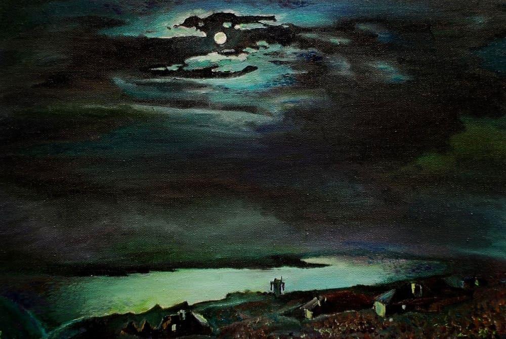 А.И.Куинджи «Лунная ночь на Днепре», 1880 год Местонахождение: Государственный Русский музей, Санкт-Петербург, Россия