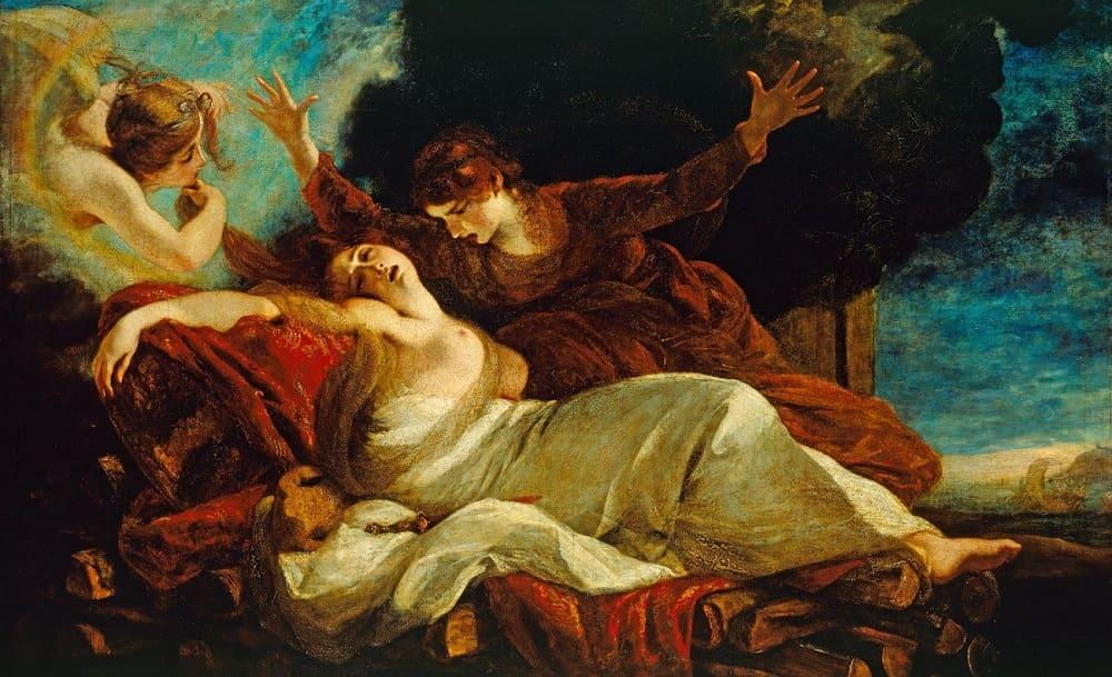 Джошуа Рейнольдс «Смерть Дидоны», 1781 год<br /> Местонахождение: Королевская коллекция, Лондон, Великобритания