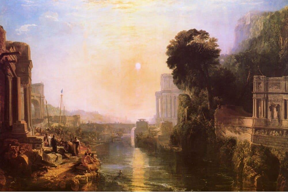 Джозеф Мэллорд Уильям Тернер «Возведение Карфагена», 1815 год<br /> Местонахождение: Национальная галерея, Лондон, Великобритания