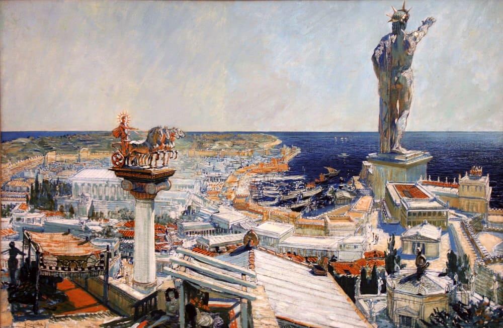 Франтишек Купка «Колосс Родосский», 1906 год Местонахождение: Центр современного искусства, выставочный Дворец, Прага, Чехия