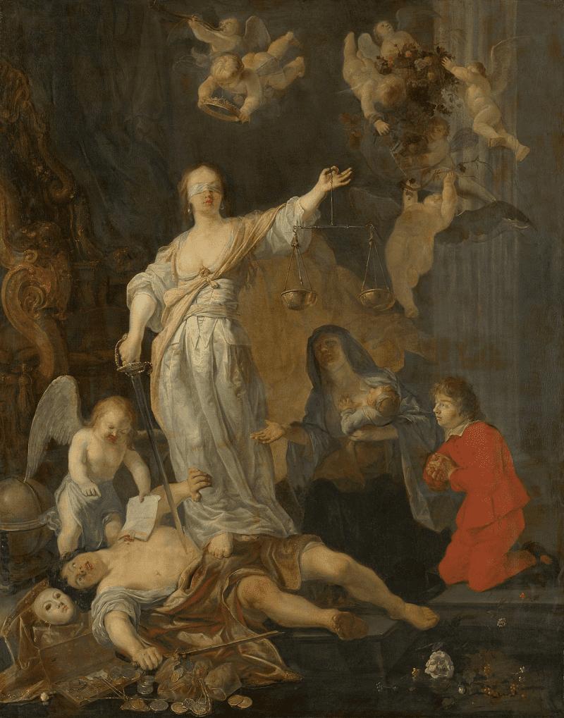 Габриэль Мэтсю Триумф Правосудия, 1655-1660 годы Местонахождение: Королевская галерея Маурицхёйс, Гаага, Нидерланды