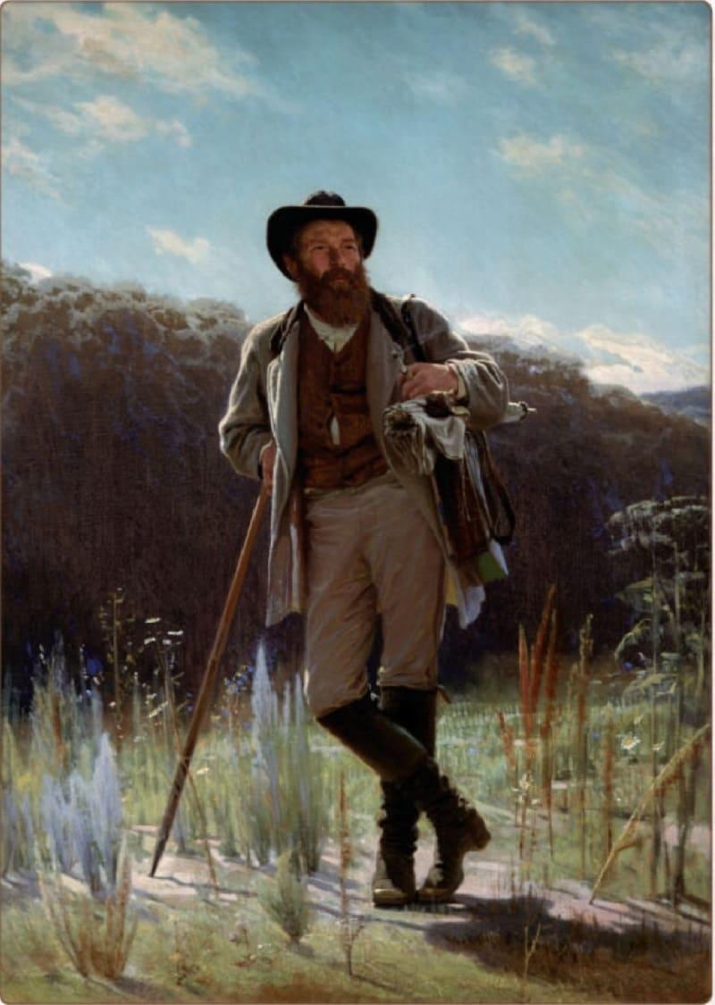 И.Н. Крамской «Портрет Шишкина», 1873 год Местонахождение: Третьяковская Галерея, Москва, Россия