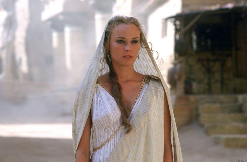Кадр из фильма «Троя», 2004 год Елена Троянская в исполнении Дианы Крюгер