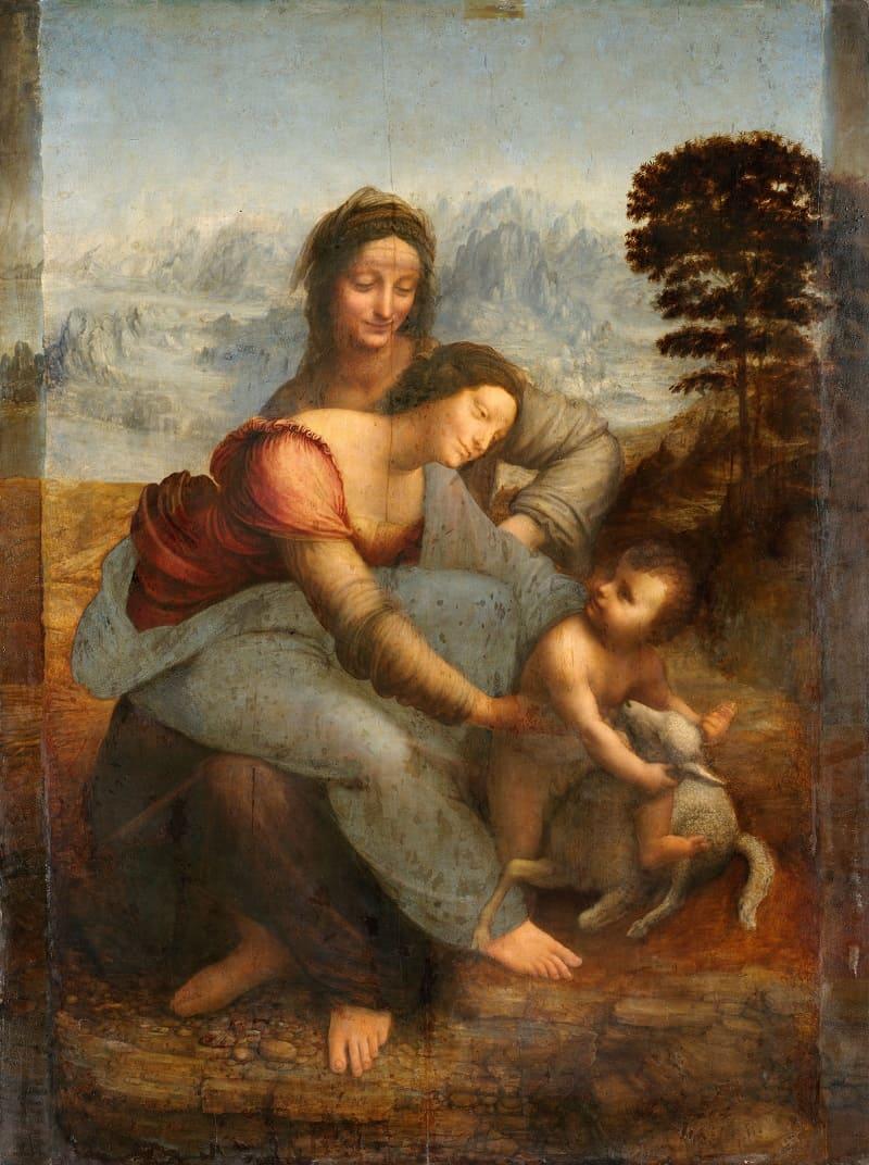 Леонардо да Винчи «Мадонна с Младенцем и святой Анной»,1508-1519 годы. Местонахождение: Лувр, Париж, Франция