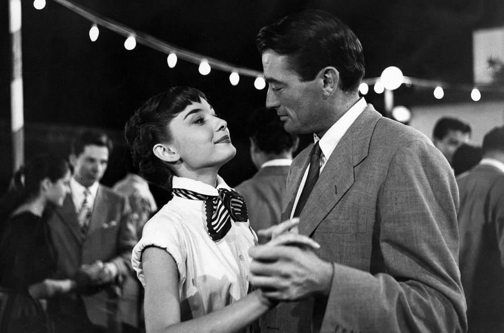 Одри Хепберн и Грегори Пек в «Римских каникулах», 1953 год
