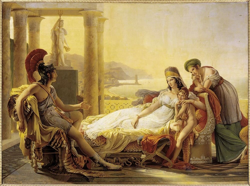 Пьер-Нарцисс Гуэрин «Эней рассказывает Дидоне о падении Трои»,1815 год<br /> Местонахождение: Лувр, Париж, Франция