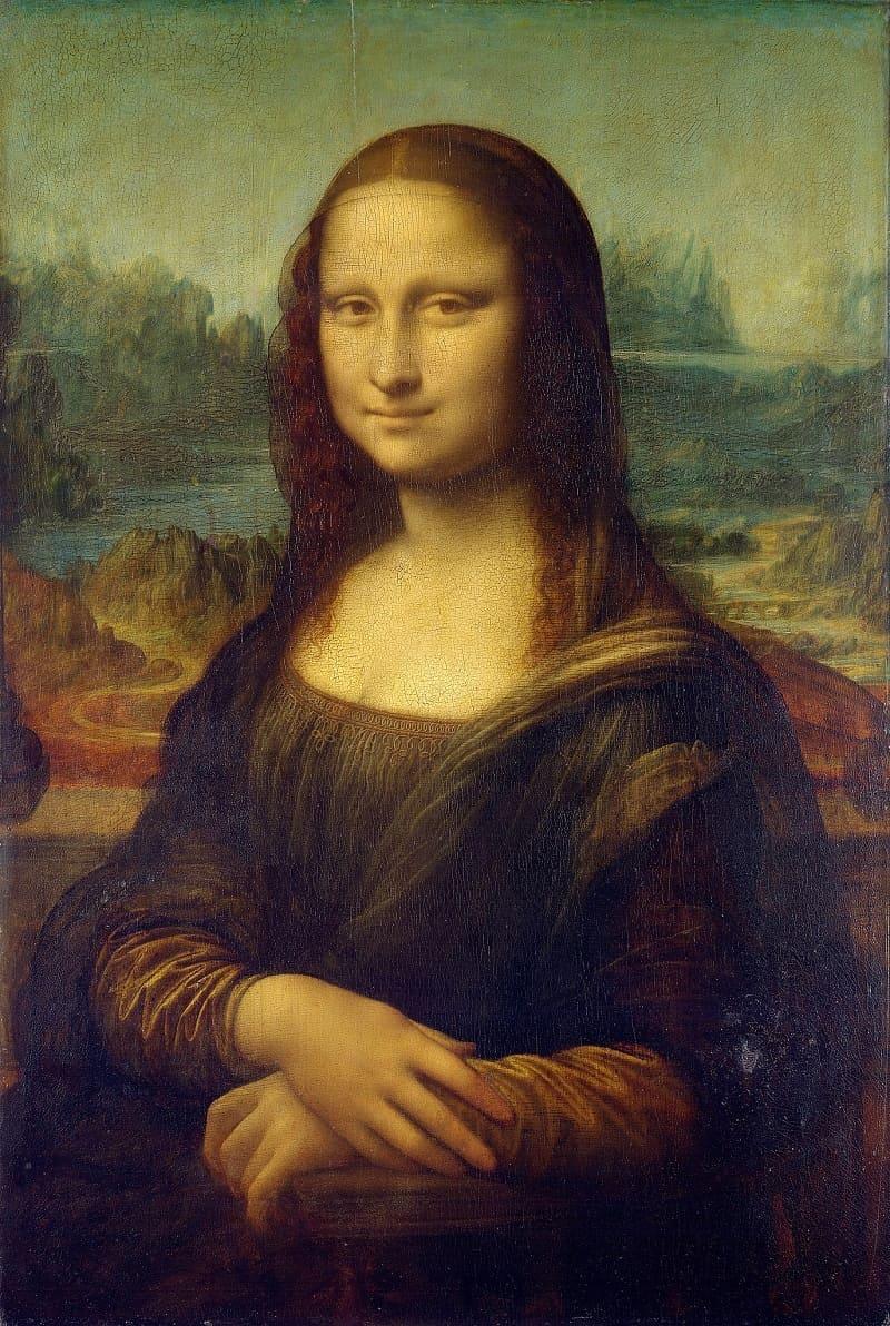 Пожалуй, нет в мире более знаменитой картины. Леонардо да Винчи «Мона Лиза» или «Джоконда», 1503-1506годы, Местонахождение: Лувр, Париж, Франция