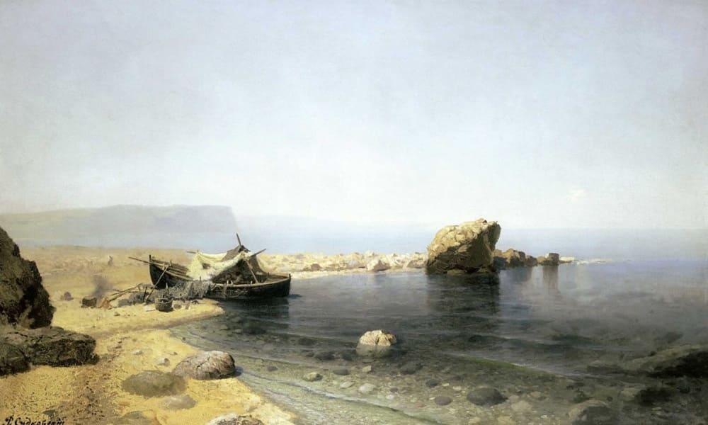 Р.Г.Судаковский «Мёртвый штиль», 1879 -1885 годы Местонахождение: Киевская картинная галерея, Украина