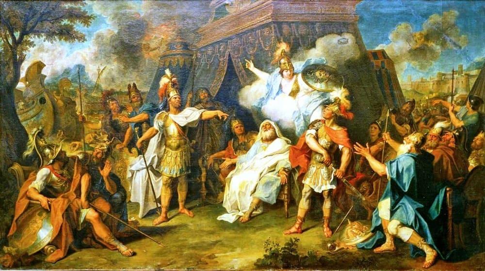 Шарль Антуан Куапель «Ссора Ахиллеса и Агамемнона», ок. 1711 года Местонахождение: Музей изящных искусств, Тур, Франция