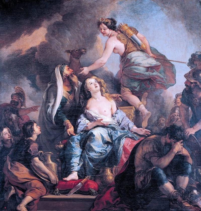 Шарль де Лафосс «Жертвоприношение Ифигении», 1672 год Местонахождение: Версальский дворец, Франция
