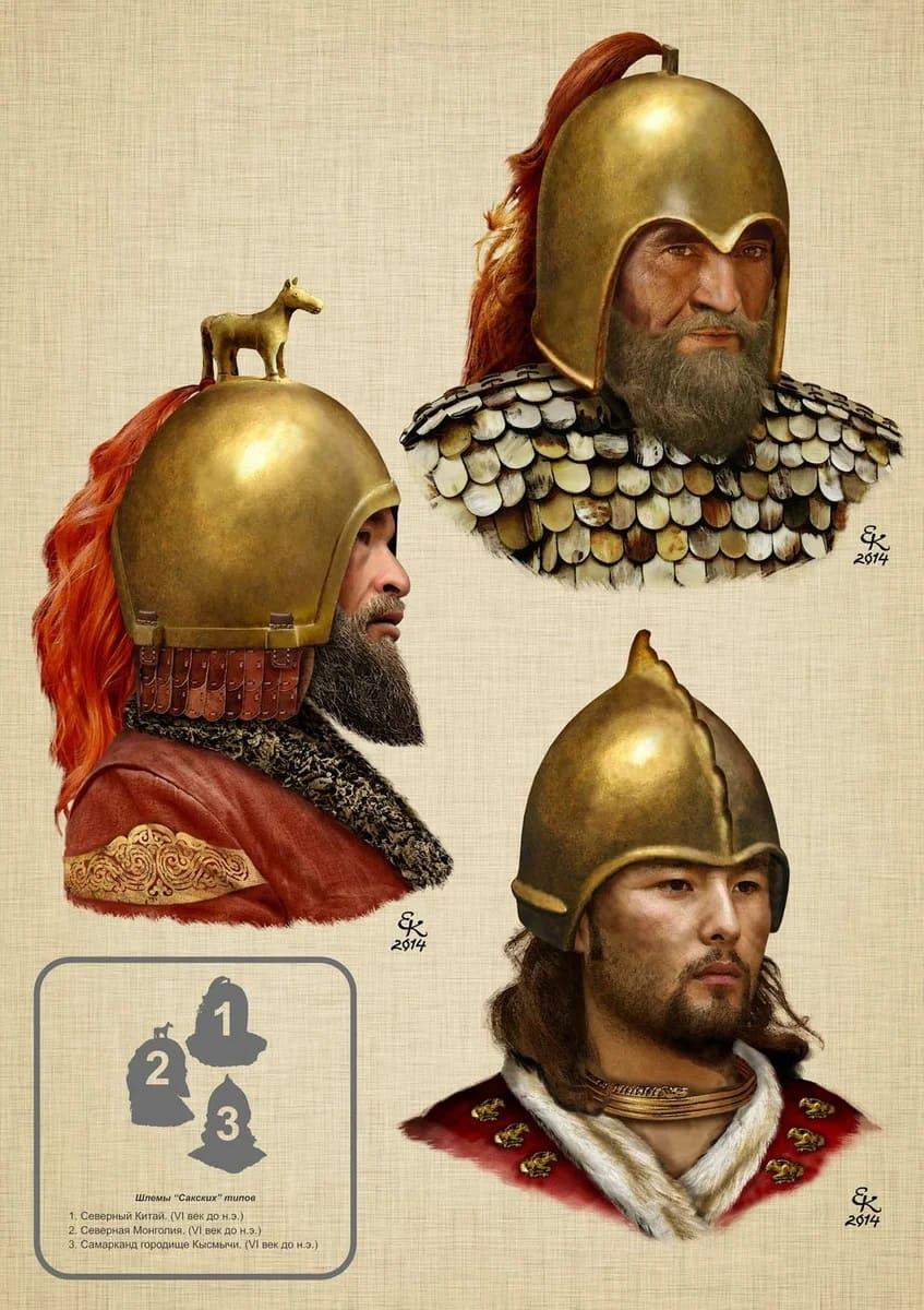 Шлемы в Сакском стиле \ © Евгений Край