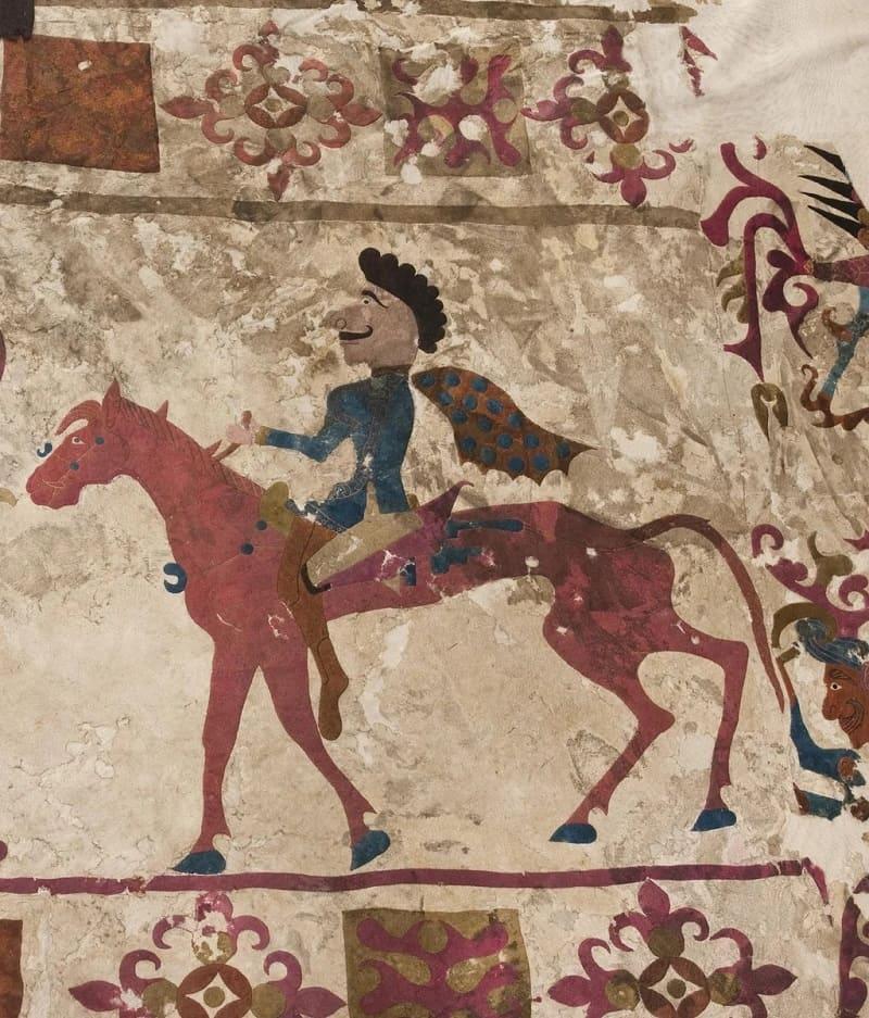 Сакский (скифский) всадник из Пазырыка в Центральной Азии, около 300 г. до н. э. \ wikipedia.org