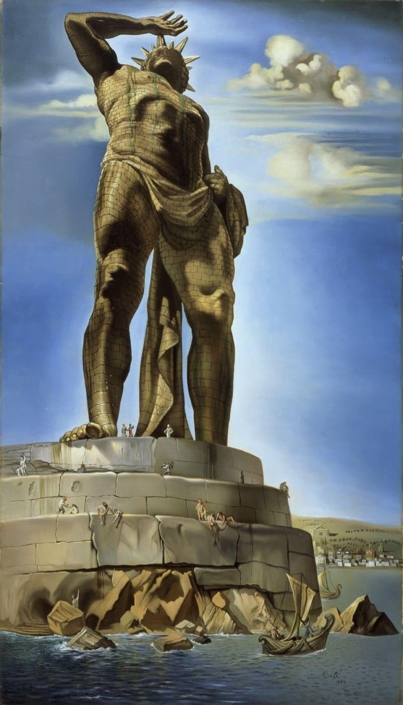 Сальвадор Дали «Колосс Родосский»,1954 год Местонахождение: Музей изящных искусств, Берн, Швейцария