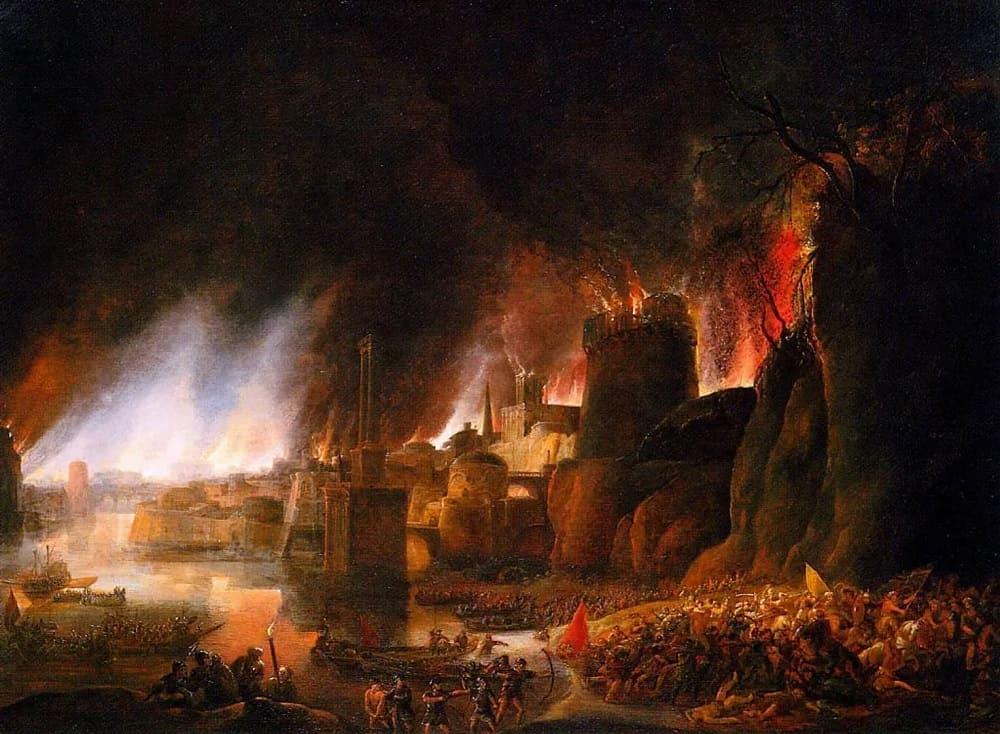 Симон де Влигер «Осада Трои», 1631 год Местонахождение: Частная коллекция