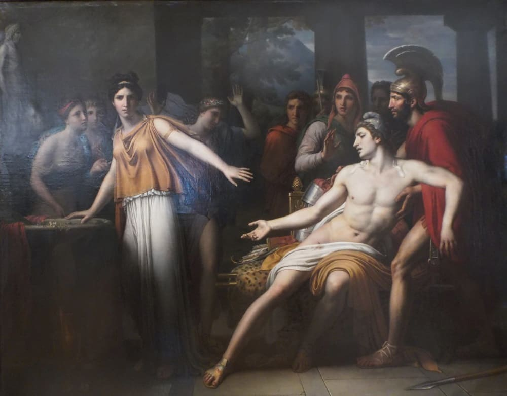 Томас Деджордж «Энона отказывается лечить Париса», 1816 год Местонахождение: Музей Роже-Кийо, Клермон-Ферран, Франция