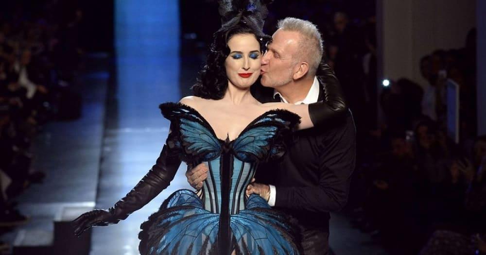 В 2014 году Дита фон Тиз стала главным украшением шоу легендарного Jean Paul Gaultier, которое состоялось в Париже / tsn.ua