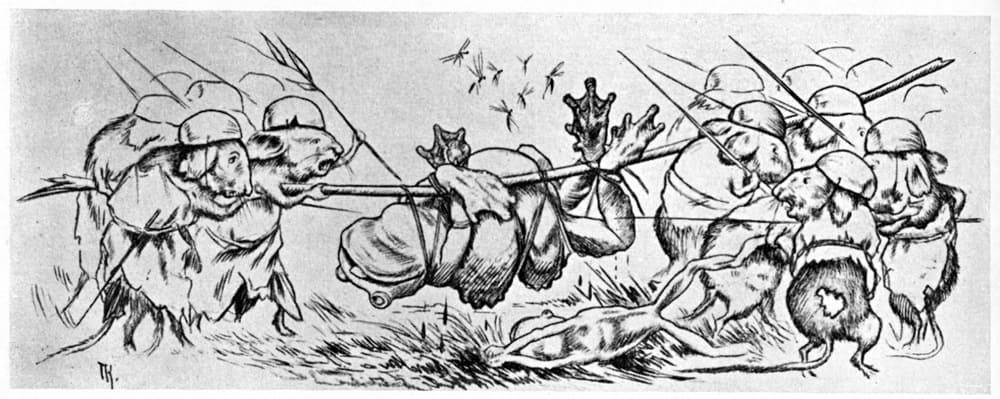 В Древней Греции в жанре бурлеска сочинили «Войну мышей и лягушек» / © Theodor Kittelsen / commons.wikimedia.org