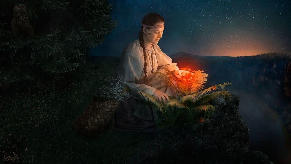 В ночь с Аграфены на Купалу искали волшебный цветок папоротника / junona.pro