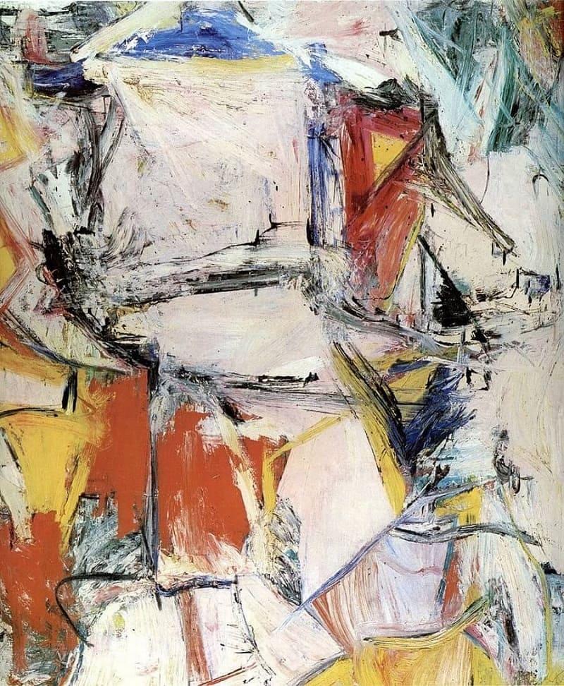 Виллем де Кунинг «Обмен» Местонахождение: Частная коллекция Кеннета Гриффина, сейчас в аренде в Чикагском институте искусств, Чикаго, США