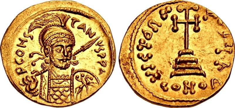 Византийские монеты являются редкими артефактами византийской империи