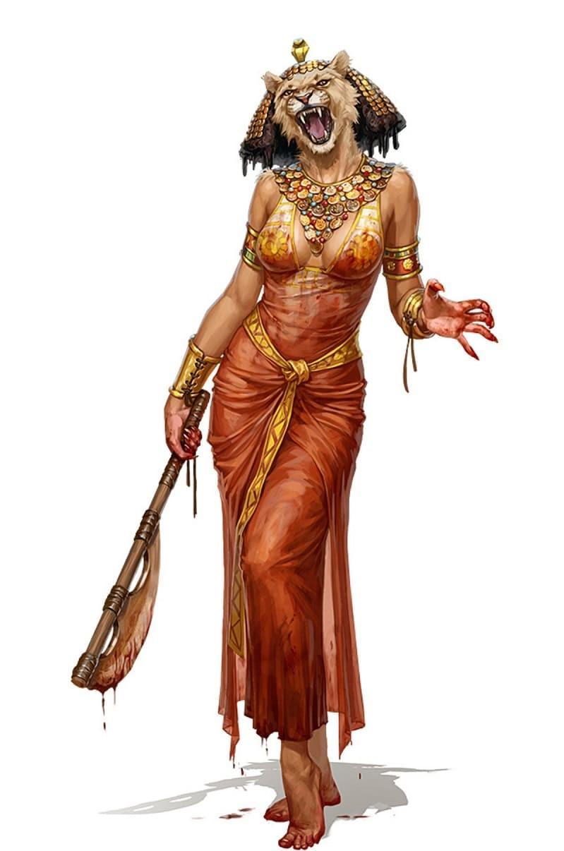 Яростная богиня Сехмет, одна из злейших врагов Апопа / © PAIZO PUBLISHING / funnyjunk.com