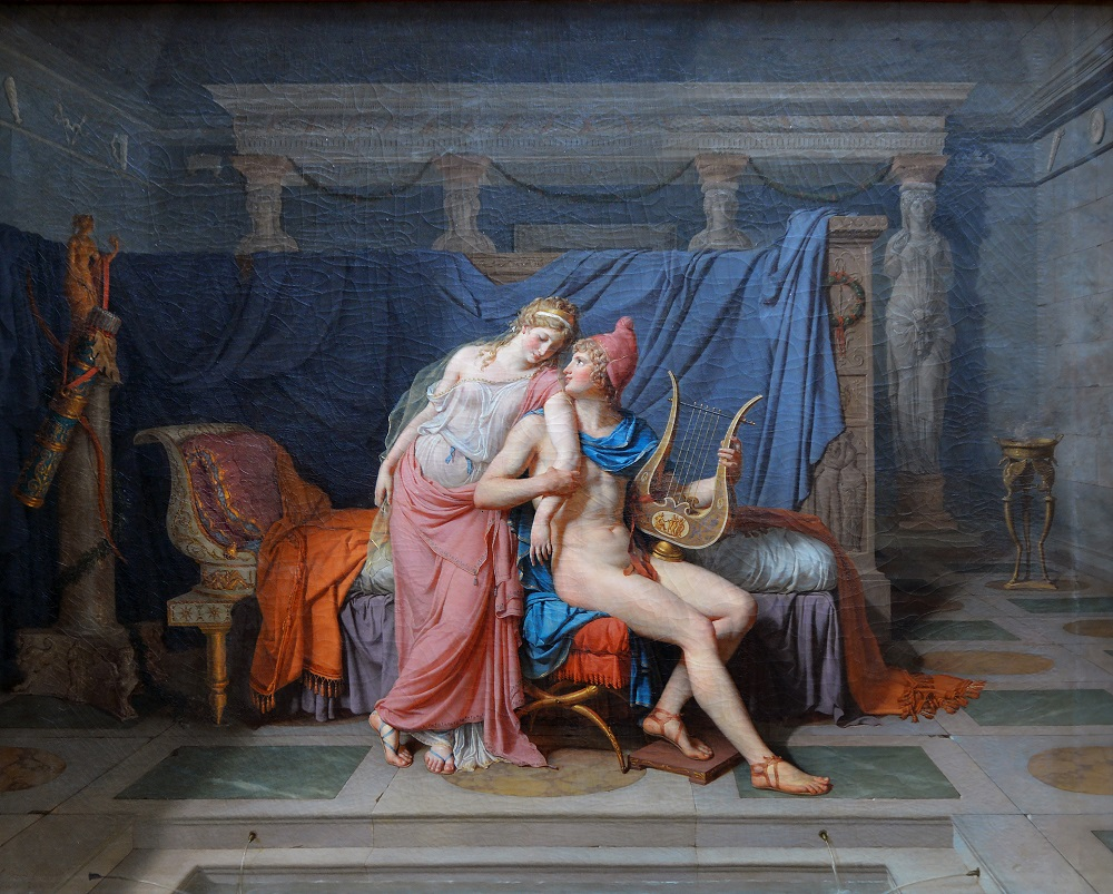 Жак Луи Давид «Елена Прекрасная и Парис», 1788 год Местонахождение: Лувр, Париж, Франция