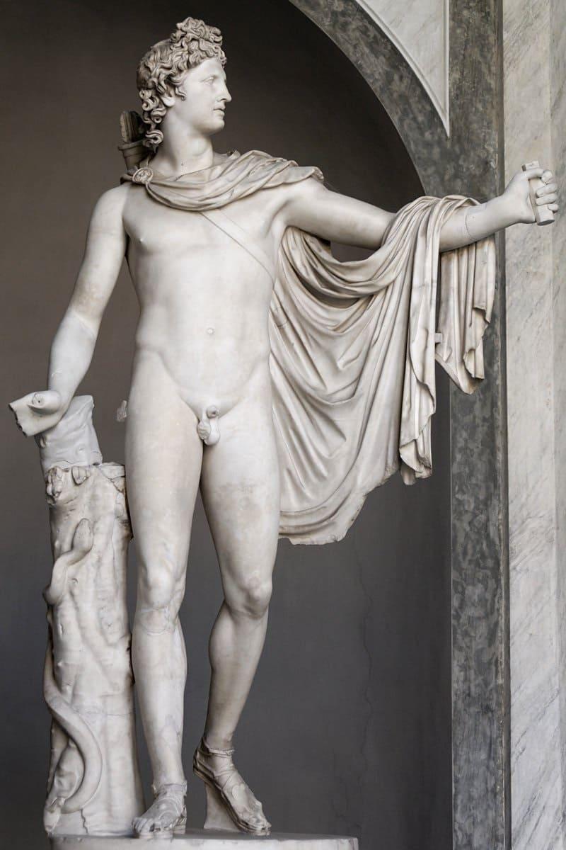 Аполлон, отец Эскулапа. Аполлон Бельведерский, ок. 330-320 годов до н.э. Местонахождение: Музей Пия-Климента, Ватикан, Рим, Италия