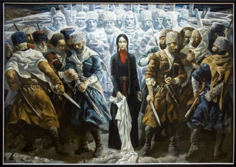 Бросив платок между участниками поединка, женщина могла его остановить / narodidagestana.ru