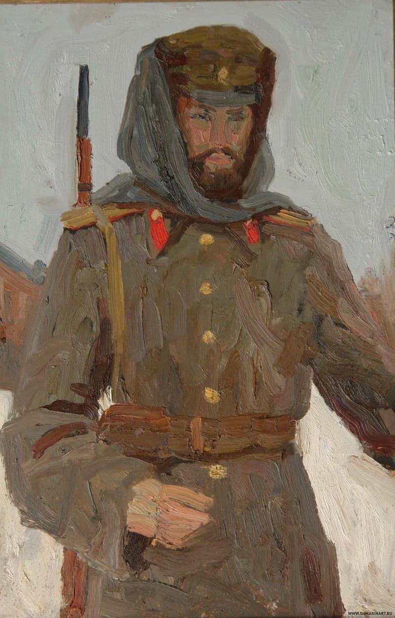 Дмитрий Александрович Шмарин «Офицер в башлыке. Автопортрет» / shmarinart.ru