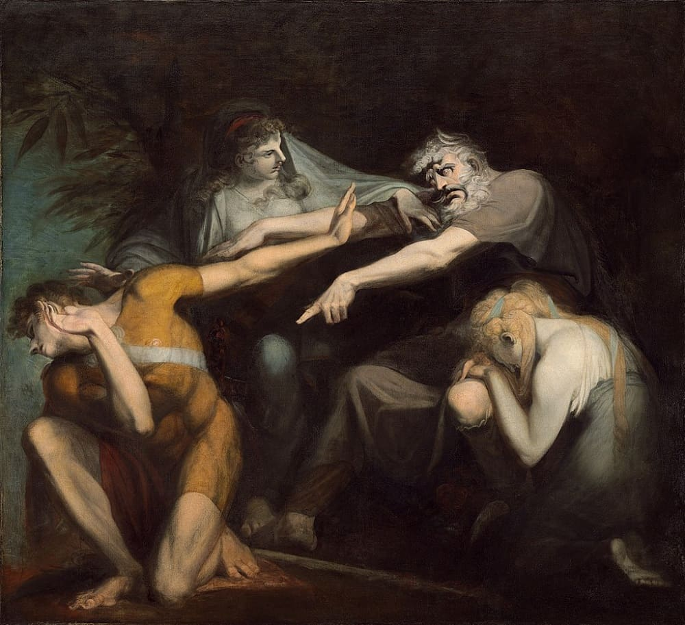 Иоганн Генрих Фюссли «Эдип проклинает своего сына Полиника», 1786 год Местонахождение: Национальная галерея искусств, Вашингтон, США