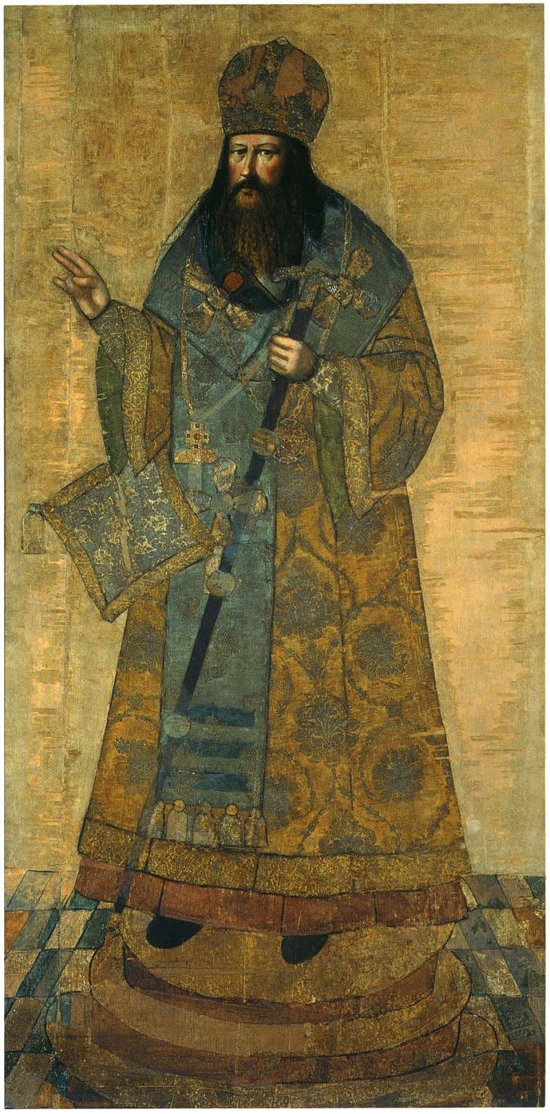 Иван Волтырь Парсуна «Патриарх Никон», ок.1682 года Местонахождение: Государственный Исторический музей, Москва, Россия