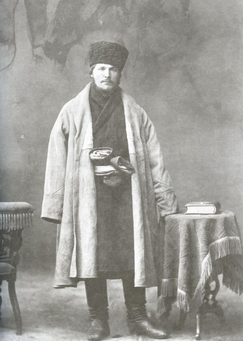 Крестьянин в азяме (кафтане) Казанская губерния, 1877 год