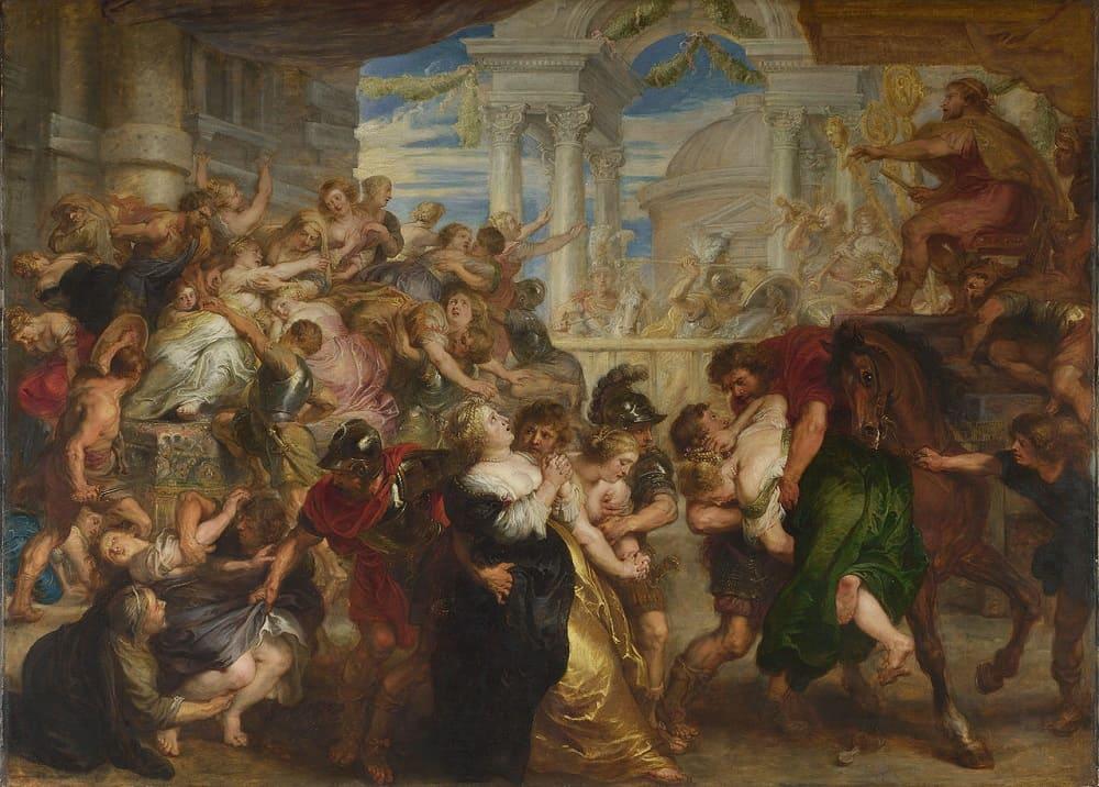 Питер Пауль Рубенс «Похищение сабинянок», между 1635 и 1640 годами Местонахождение: Национальная галерея, Лондон, Великобритания