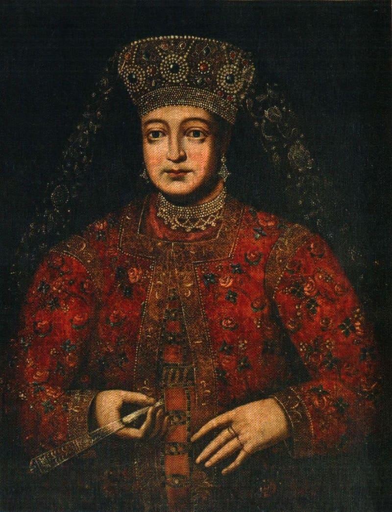 Портрет царицы Марфы Апраксиной, 1682 год Местонахождение: Государственный русский музей, Санкт-Петербург, Россия