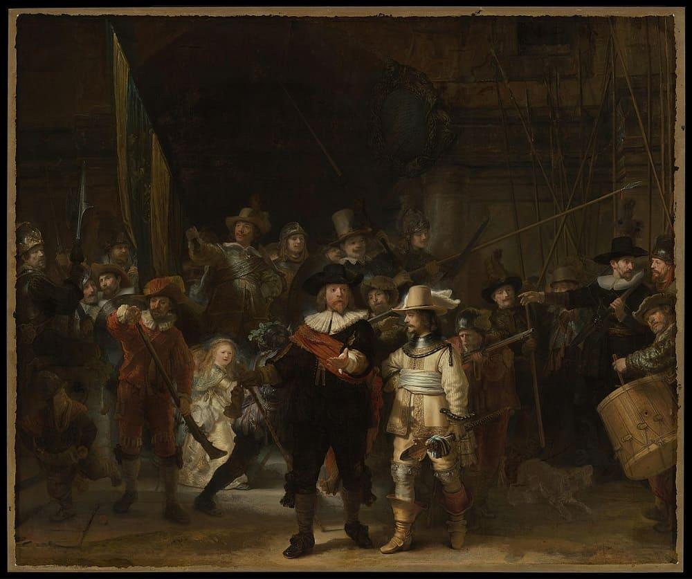 Рембрандт «Ночной дозор», 1642 год Местонахождение: Рейксмюзеум, Амстердам, Нидерланды