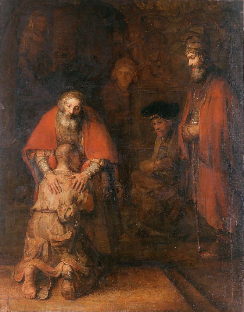 Рембрандт «Возвращение блудного сына», ок.1668 года Местонахождение: Государственный Эрмитаж, Санкт-Петербург, Россия