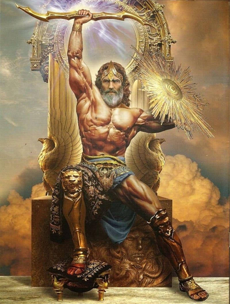 Суровый Зевс-громовержец, отец Илифии / etsy.com