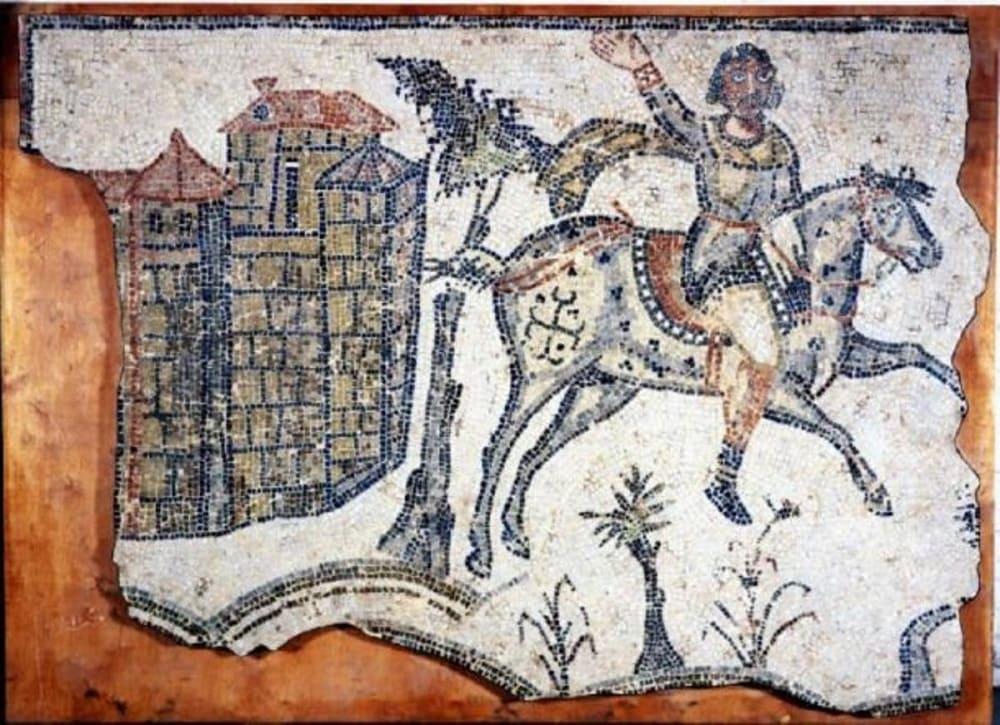 Вандальский всадник, мозаика, город Bordj Djedid, около 500 года Местонахождение: Британский музей, Лондон, Великобритания