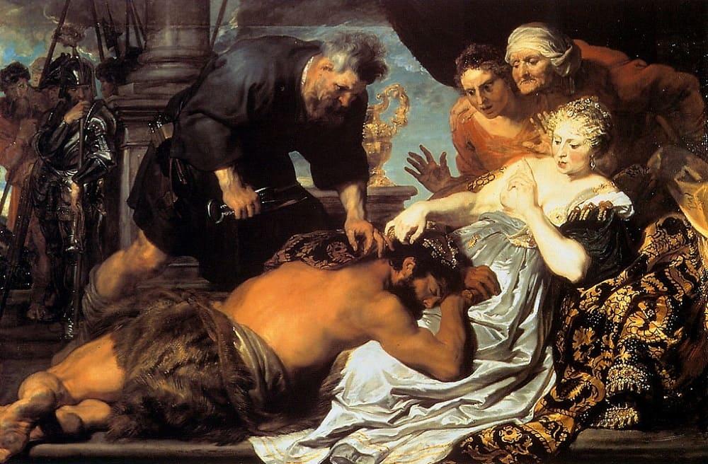 Антонис Ван Дейк «Самсон и Далила», 1618-1620 годы Местонахождение: Далиджская картинная галерея, Далич, Великобритания