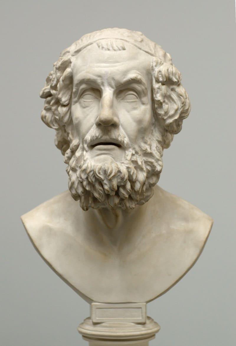 Бюст Гомера, эллинистический период Местонахождение: Музей копий классической скульптуры, Мюнхен, Германия