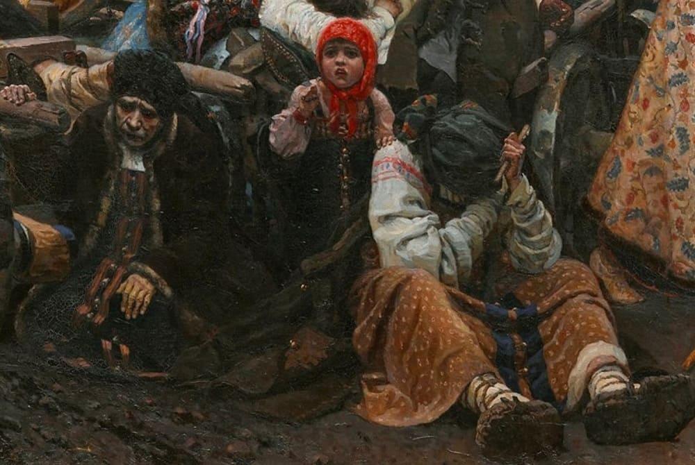 Две убитых горем старых матери и кричащая маленькая девочка - страдание и горе семей приговорённых